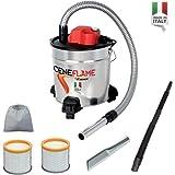ASPIRACENERE ELETTRICO CENEFLAME 1200 W - 18 L con doppio filtro, lancia piatta e lancia flessibile