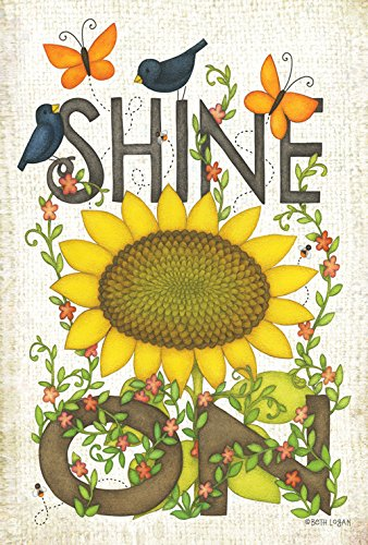 (Toland Home Garden Sunflower Shine On 28 x 40 Inch Decorative Spring Summer Flower Butterfly Bird House Flag)