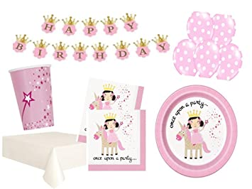 Kinder Party Set Princess Unicor Prinzessin Einhorn