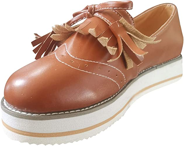 Orangetime Womens Casual Leather Loafers XWD6631 Soft Round Toe Driving Moccasins Tie up Slip On Flat Shoes