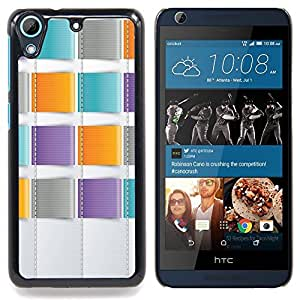 SKCASE Center / Funda Carcasa protectora - Trullo púrpura anaranjado costura - HTC Desire 626