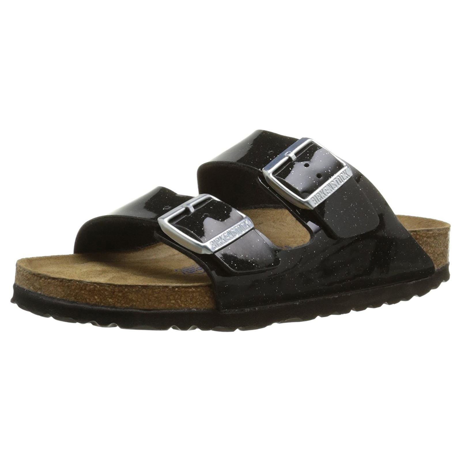 Birkenstock Womens Arizona Soft Footbed Magic Galaxy Black Synthetic Sandals 38 EU