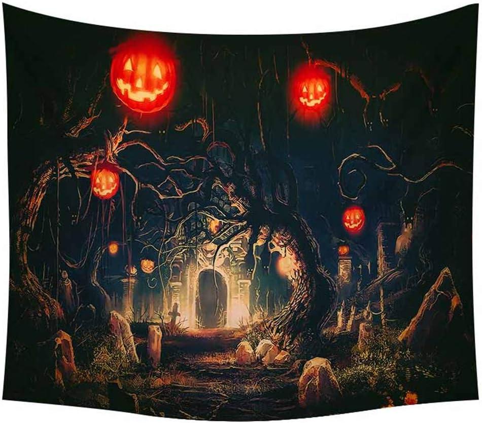 Old Halloween Haunted House Goth Spooky Pumpkins Handmade Christmas Ornament