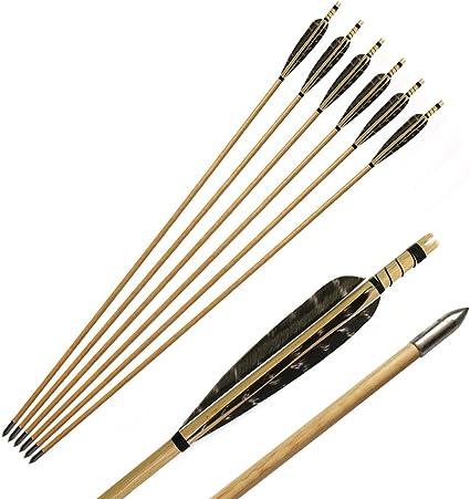 12 Wooden Arrows Arrows Longbow Recurve