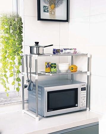 Aojia, scaffale per forno a microonde con mensole da cucina 8204-2 ...