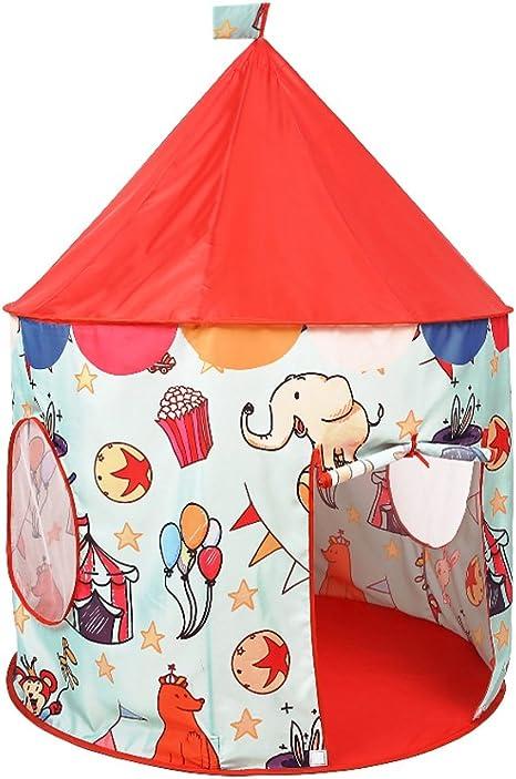 Juego de niños Color de la Tienda Pintado a Mano de Dibujos Animados pequeño Animal de Dibujos Animados Ronda Yurts Interiores y al Aire Libre Juguetes Tiendas de campaña (sólo una Tienda):