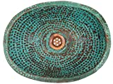 Egypt gift shops SMALL Rustic Industrial Verde Handcrafted Oval Hammered Copper Sink Kitchen Powder Room Construction Upgrading