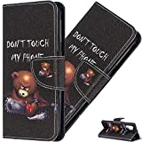 EMAXELER Galaxy Note 10 Case Cover Shockproof PU Leather Painted Flip Folio Bookstyle Slim Wallet Protection Case Magnetic with Stand Card Slot for Samsung Galaxy Note 10 BF Bear