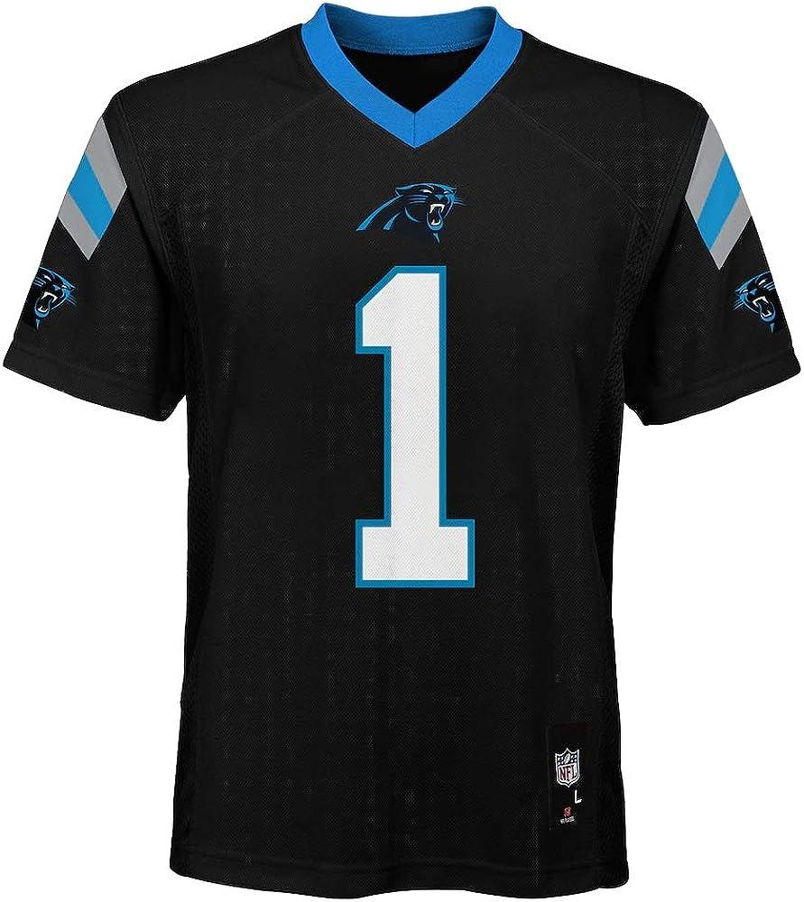 Amazon.com : Outerstuff Cam Newton Carolina Panthers #1 NFL Youth ...