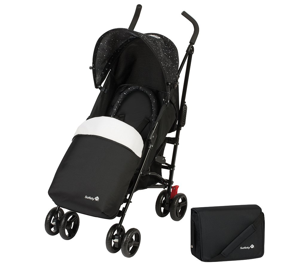 Safety 1st Slim Comfort Pack - Silla de paseo ligera, color Splatter Black Dorel 1130323000
