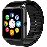 Smart Watch,Billcoco YG8 Sweatproof Smart Watch Phone for Android Samsung S5 S6 S7 Note 4 5; HTC Sony LG and iPhone 5 5S 6 6 Plus 7 Google Pixel /Pixel XL Smartphones (Black & Black)