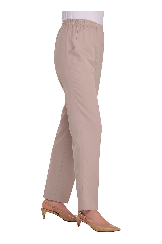 Alia Nygard Womens Petite Microfiber Twill Pull-On Pant