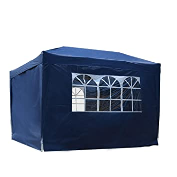 brand new fdfb7 06a94 Outsunny 3 x 3 m Water Resistant Pop Up Gazebo Party Tent Canopy Marquee  Free Storage Bag - Blue