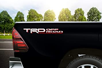 Black//RED Noa Store Toyota TRD Truck Off Road 4x4 Toyota Racing Tacoma Decal Vinyl Sticker