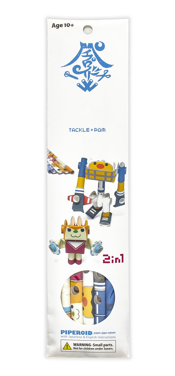 PIPEROID Tackle /& Pom paper craft robot kit from Japan Football Captain /& Cheerleader KOTO CO LTD CT-pip025