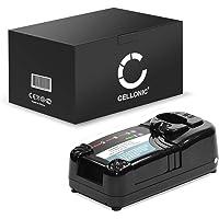 subtel® Chargeur de Qualité Compatible avec Hitachi BCC1415 / BCH1420 / EB14B / EB1414 / EB1414S / EB1426H / EB1430H (7.2V / 9.6V / 12V / 14.4V / 18V) Chargeur Câble Secteur Noir