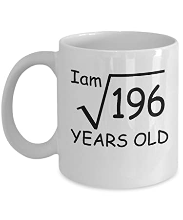 Amazon Com 14 Year Old Square Root 196 Shirt 14th Birthday Gift