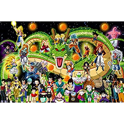 Kkxka Dragon Ball Puzzle Adult Wooden Puzzle Toy Anime Difficult Puzzles Interesting Puzzle Toy(1000 Pieces): Toys & Games