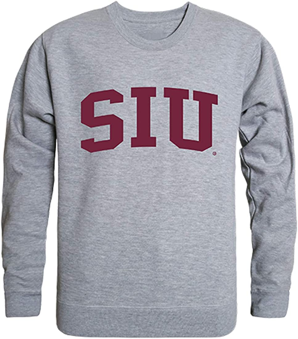 W Republic SIU Southern Illinois Salukis NCAA Mens Game Day Crewneck Fleece Sweatshirt