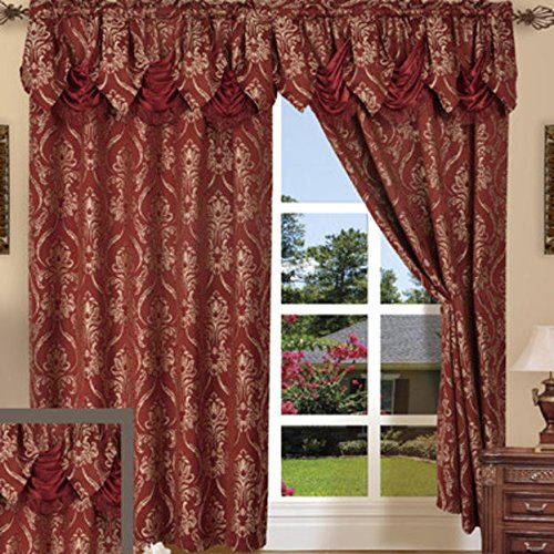 Le Benton Penelopie Window Curtains 2 Panels, Elegant Jacquard Look, With Attached 18