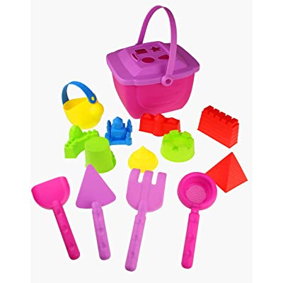15-Pieces Beach Sand Toys Set for Girls