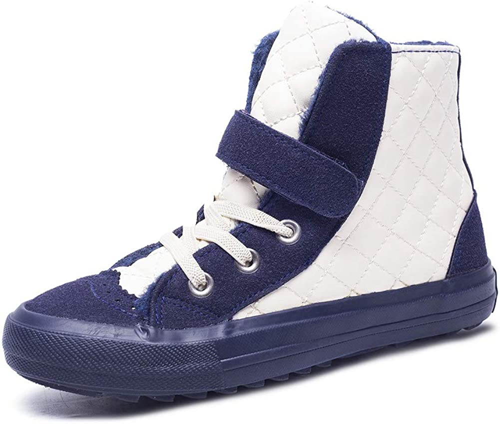 Toddler//Little Kid//Big Kid Boys Girls High-Top Casual Faux Fur Boots with Easy Strap