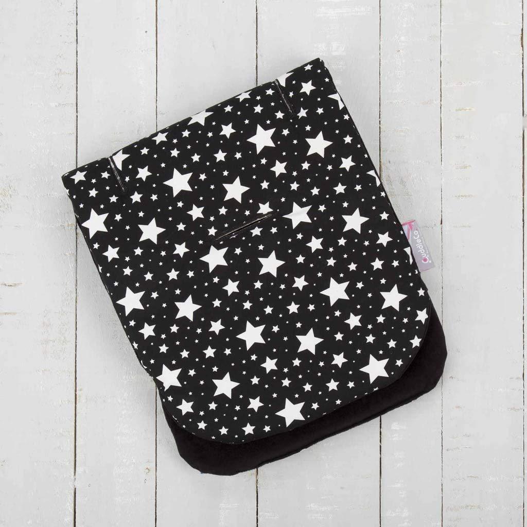 Comfi-Cush Memory Foam Stroller Liner - Black & White Stars by CuddleCo (Image #4)