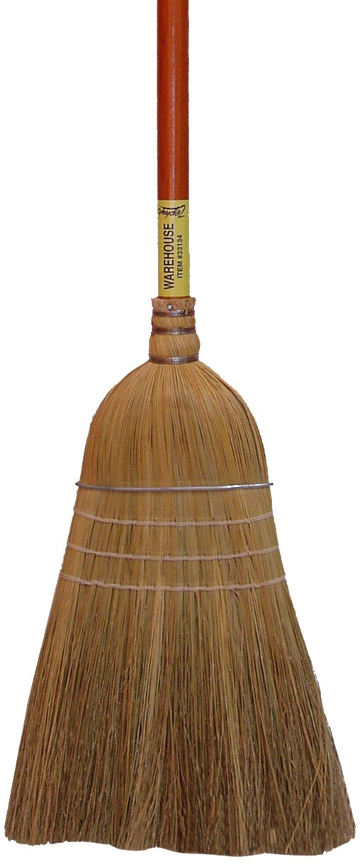 Zephyr 33134 Broomcorn Fiber Amber Handled Warehouse Broom, 60'' Overall Length, 32 Size (Case of 6)