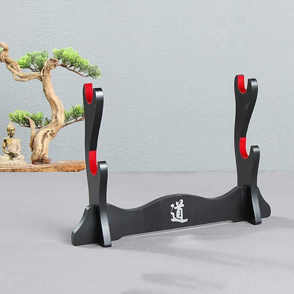 doble capa SZQL Soporte de mesa para espadas de Katana o Wakizashi