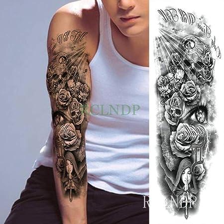 Handaxian 3pcs Impermeable Tatuaje se levantó el Brazo Transversal ...