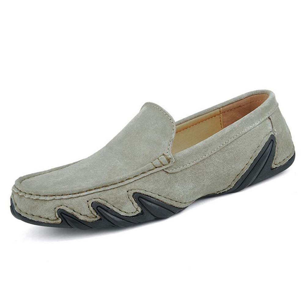 Pump Slip On Loafer Hombres Verano Transpirable Zapatos De Cuero Zapatos De Pedal Zapatos De Conducción Zapatos De Conducción Eu Tamaño 38-44 ( Color : Khaki , Size : 44 ) 44|Khaki