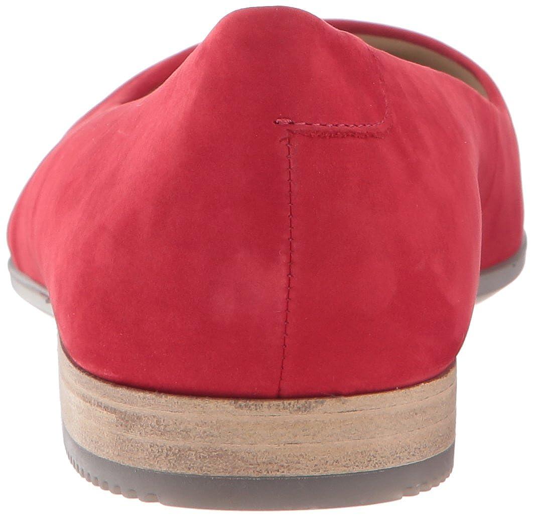 Ecco Slipper Damen Shape Pointy Ballerina Slipper Ecco Rot (Chili ROT) 068340