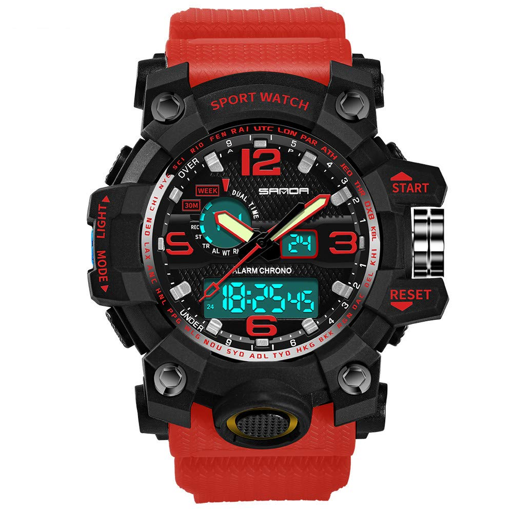 ccd48b760 Men Watches on Sale Clearance ! Hessimy Men's Digital Sports Watch LED  Screen Large Face Military Watches and Waterproof Casual Luminous  Electronics Watch ...