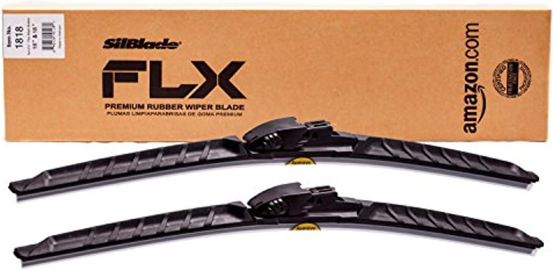 "SilBlade FLX 1818 Premium Beam Wiper Blade Set - 18""/18"" | Fits various models of Acura, Alfa Romeo, American Motors, Audi, BMW, Buick, Cadillac, Chevrolet, Chrysler, Dodge, Ford, Geo, GMC, Honda"