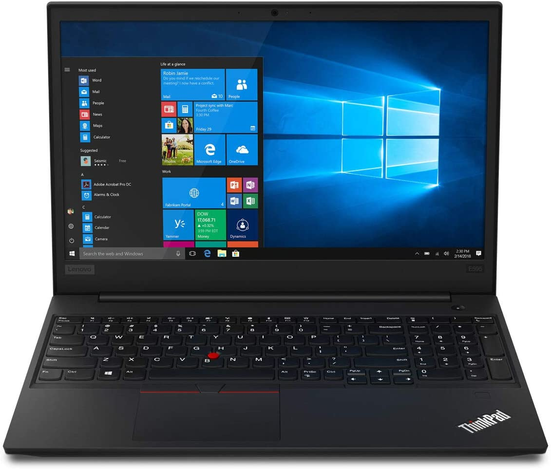 "Lenovo ThinkPad E595 Home and Business Laptop (AMD Ryzen 7 3700U 4-Core, 64GB RAM, 512GB PCIe SSD, 15.6"" Full HD (1920x1080), AMD Radeon RX Vega 10, Wifi, Bluetooth, Webcam, 2xUSB 3.1, Win 10 Pro)"