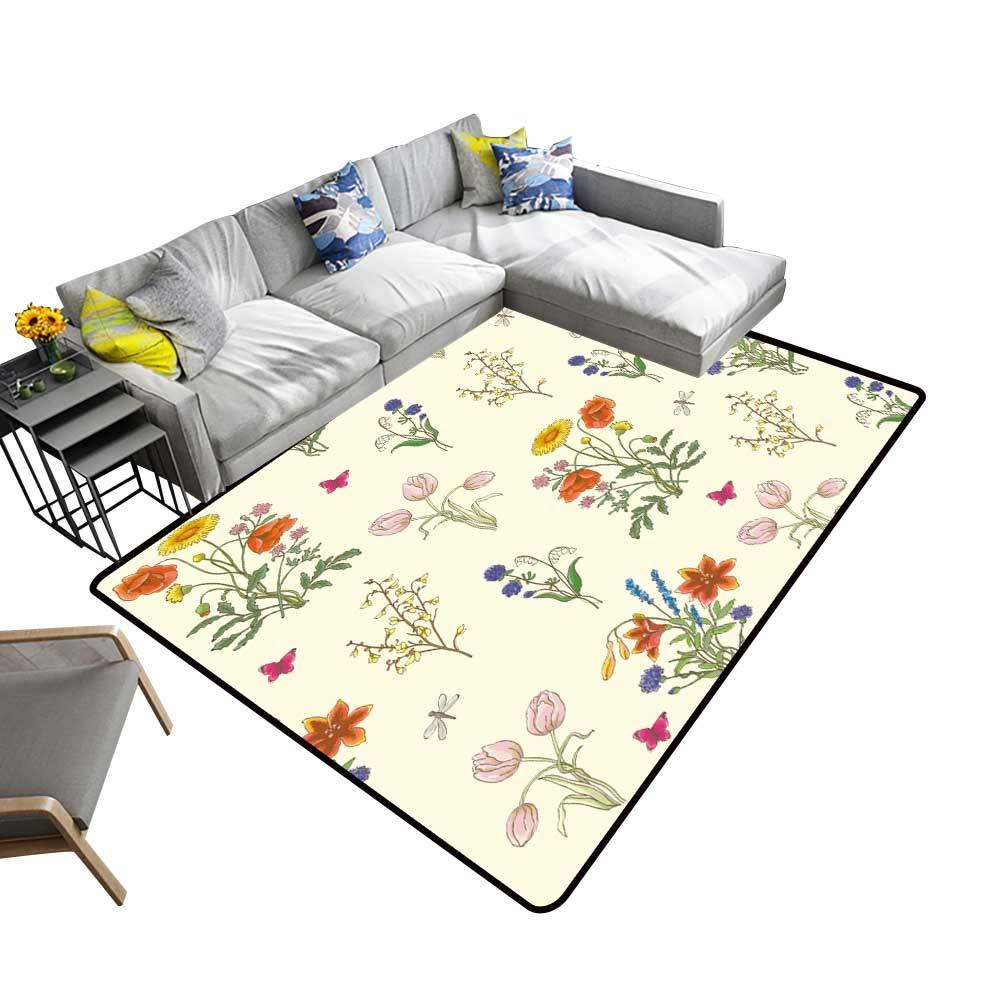 color03 2' X 4' alsohome Silky Smooth Bedroom Mats Tuna Fish Tuna Fish Emblem Eye Tuna Yellow fin Tuna Waterproof and Easy Clean 5' X 7'