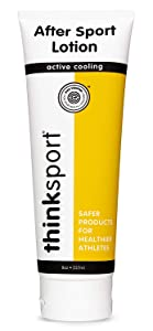 Thinksport After Sport Body Lotion For All Ages   EWG Verified, Active Cooling & Soothing Relief, Moisturizing, Nourishing   Fragrance Free, Unscented, For Face & Body - 8oz