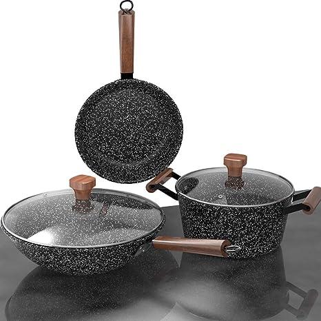 Black Delicate Maifan Stone Pot Multi-function Cooking Pot Instant Noodle Pot Tw