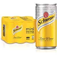 Schweppes Tonic Water Mini Cans, 180 ml (Pack of 6)