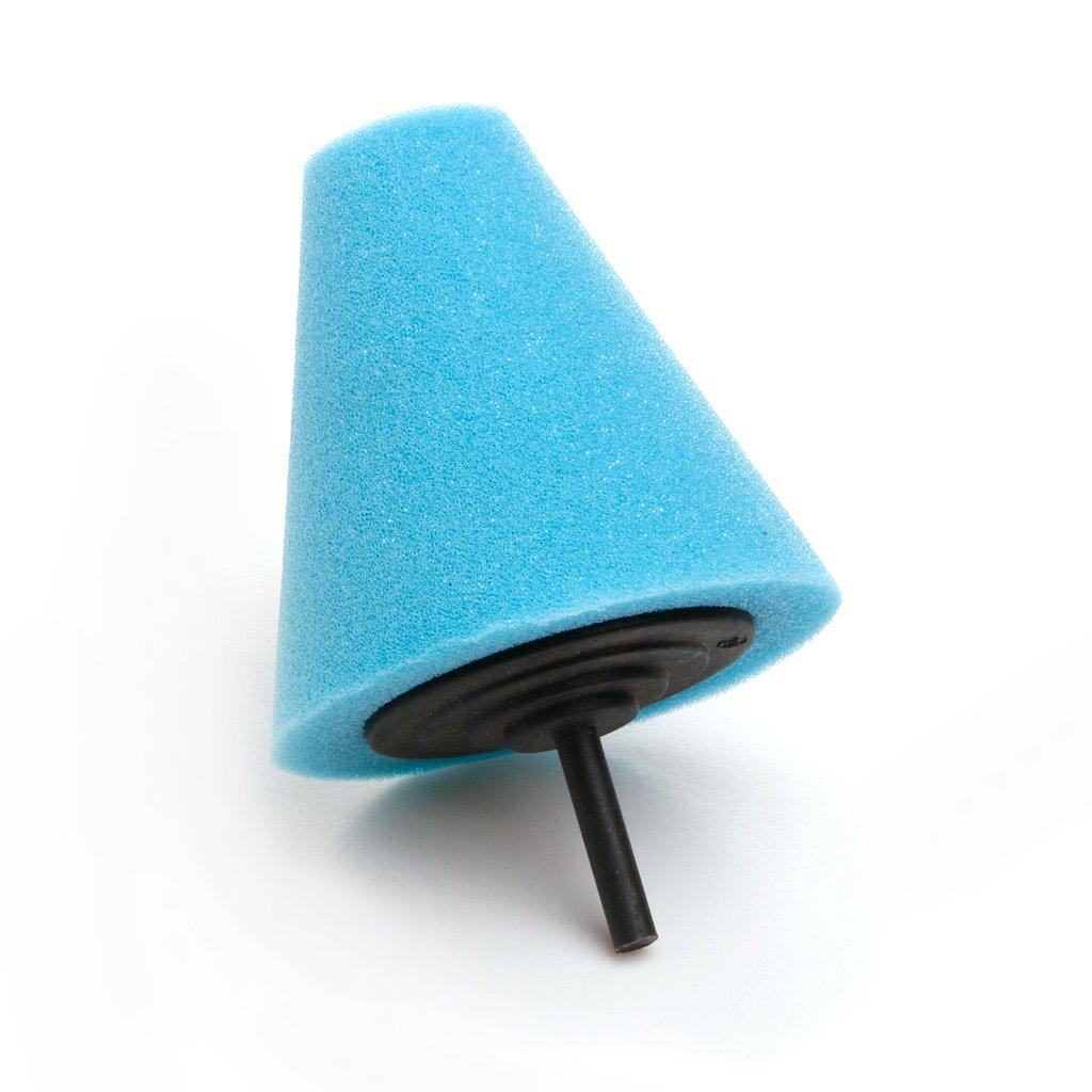 Kalttoy Burnishing Foam Sponge-Polishing Cone Shaped Buffing Pads for Car Wheel Hub Tool