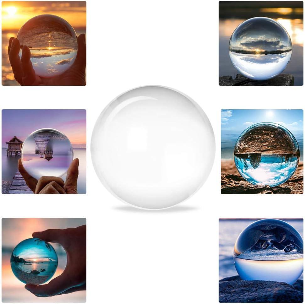 Boule Cristal Photographie Boule Cristal Feng Shui Sph/ère Diam/ètre 100 mm Boule en Verre D/écor No/ël Cadeau Anniversaire Enfants Amis