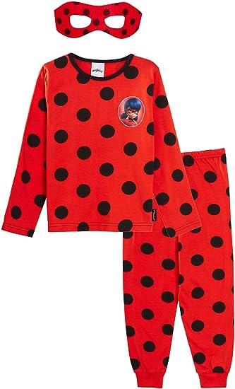per ragazze e bambini Costume da Ladybug con maschera pigiama intero Miraculous