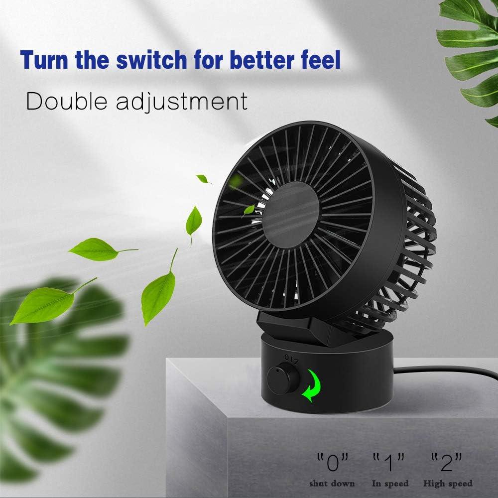 la oficina y la escuela 5.1 Vegkey Ventilador de mesa con mini mesa de luz USB para el hogar