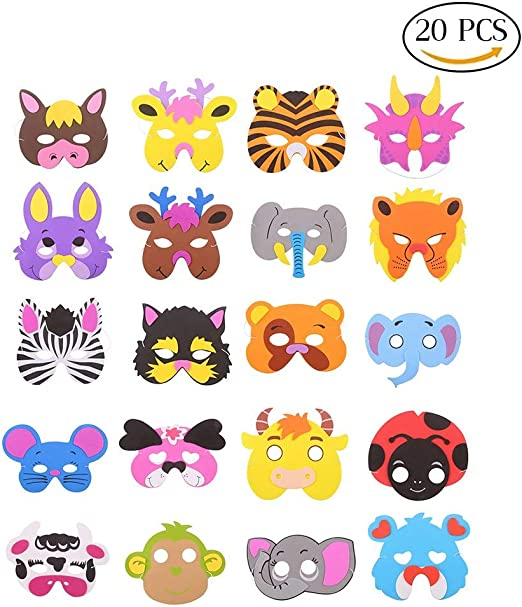 20x MINI JUNGLE ANIMAL FIGURES Ideal party bag Loot fillers Quick Post UK