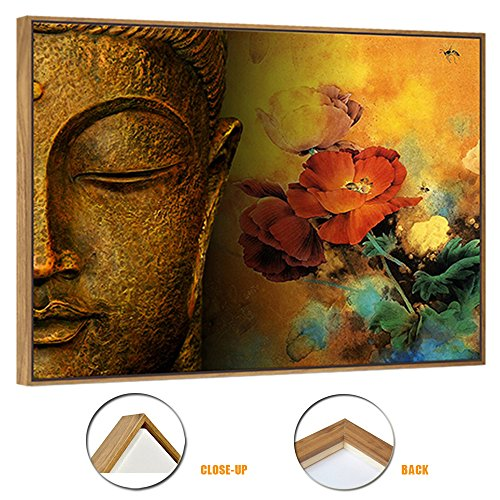 Buddha-Canvas-Wall-ArtFramed-and-StretchedLarge-Size-Merciful-Buddha-Act-with-Compassion-24x32inches-Canvas-PrintWater-proofSincere-Belief