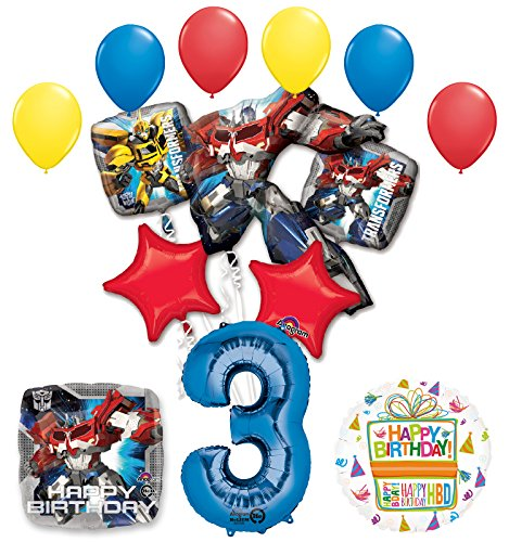 (Mayflower Products The Ultimate Transformers 3rd Birthday Party Supplies Balloon)