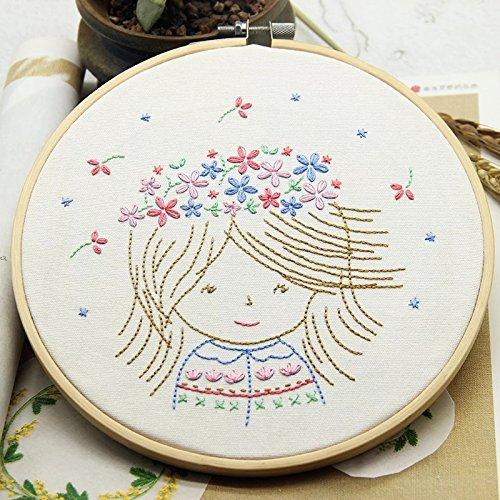 초보자를위한 자수 키트 DIY Carton Design 소녀 디자인 소년 디..