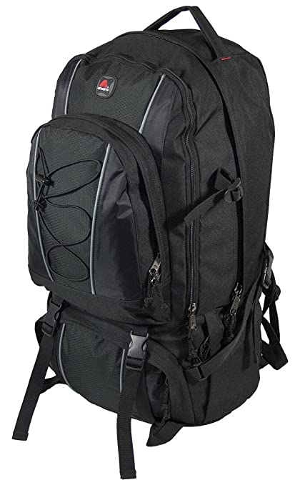 519433988e02 Amaro 22004 Sahara Backpack Jumbo Oversize Hiking Travel Daytrip Backpack  (Black)