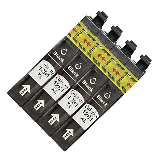 ColorJoy reemplazo para epson T1281 cartucho de tinta para ...