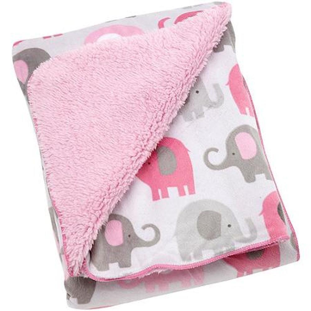 Soft And Elegant Gray And Pink Nursery: Amazon.com : Elephants Pink/Grey 10 Pc Crib Set Including